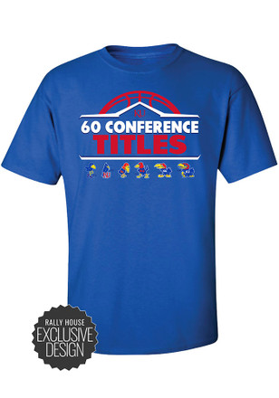KU Jayhawks Mens Blue 60 All-Time Conference Championships Tee