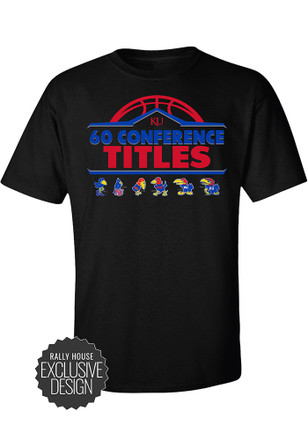 KU Jayhawks Mens Red 60 All-Time Conference Championships Tee