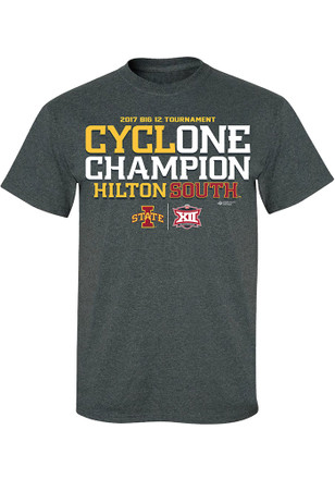Iowa State Cyclones Mens Grey 2017 Conference Tournament Champions Tee