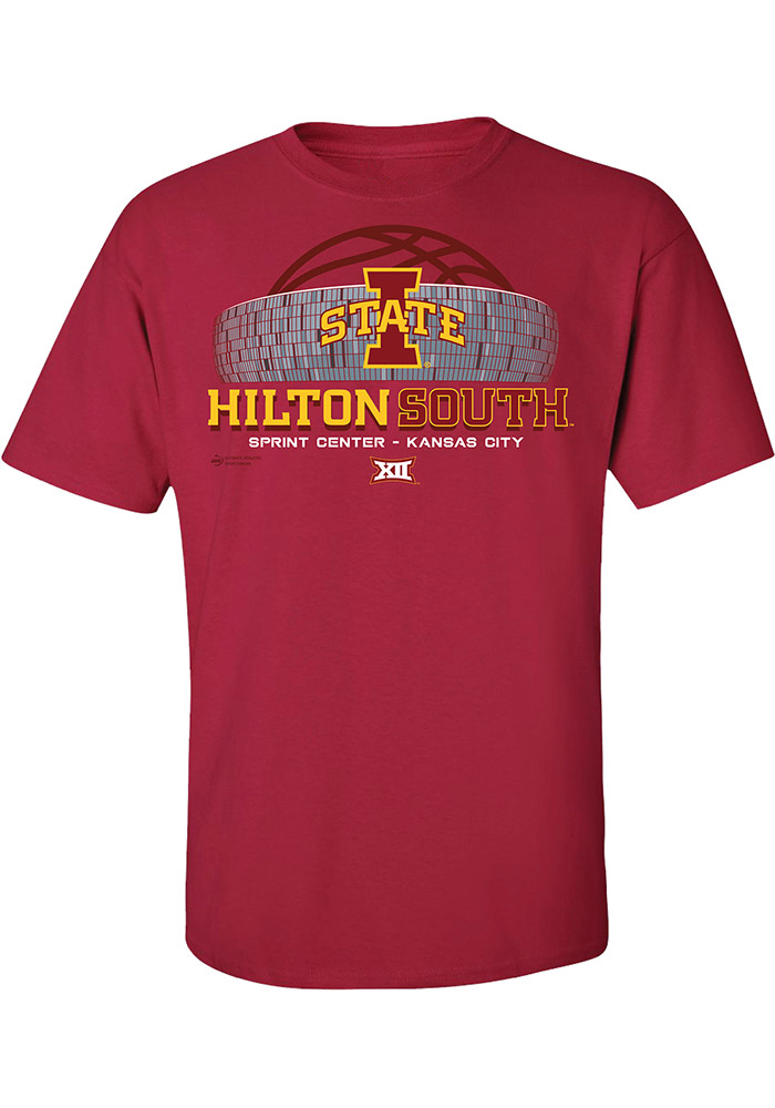 Iowa State Cyclones Mens Red Hilton South Short Sleeve T Shirt, Red, 100% COTTON, Size S