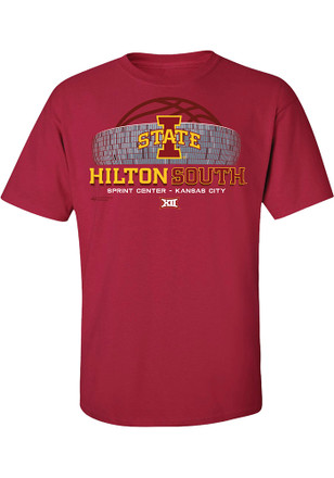 Iowa State Cyclones Mens Red Hilton South Tee