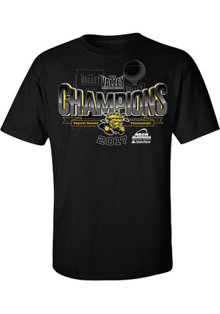 WSU Mens Black 2017 MVC Tournament Champions Tee