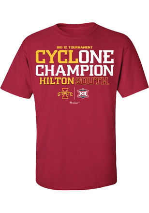 Iowa State Cyclones Mens Cardinal 2017 Conference Tournament Champions Tee