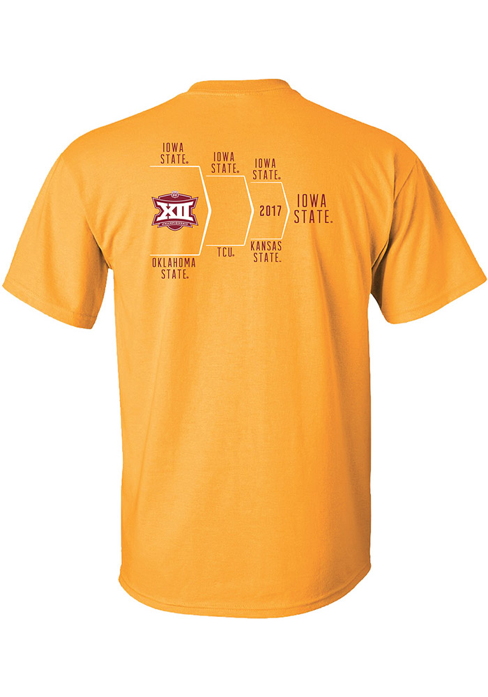 Iowa State Cyclones Gold 2017 Conference Tournament Champion Short Sleeve T Shirt - Image 2
