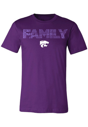 K-State Wildcats Mens Purple Family Tee