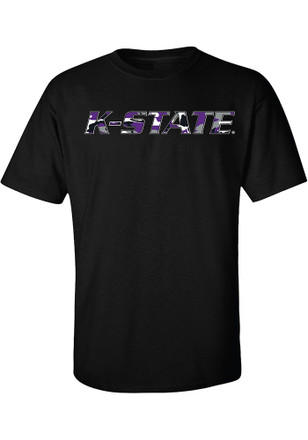 K-State Wildcats Mens Black Ft Riley Tee