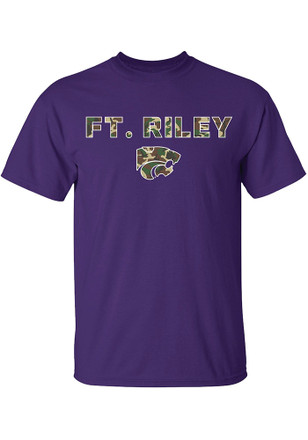 K-State Wildcats Mens Purple Ft Riley Tee