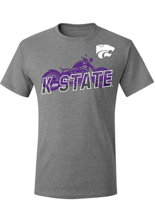 K-State Wildcats Mens Grey Harley Days Tee