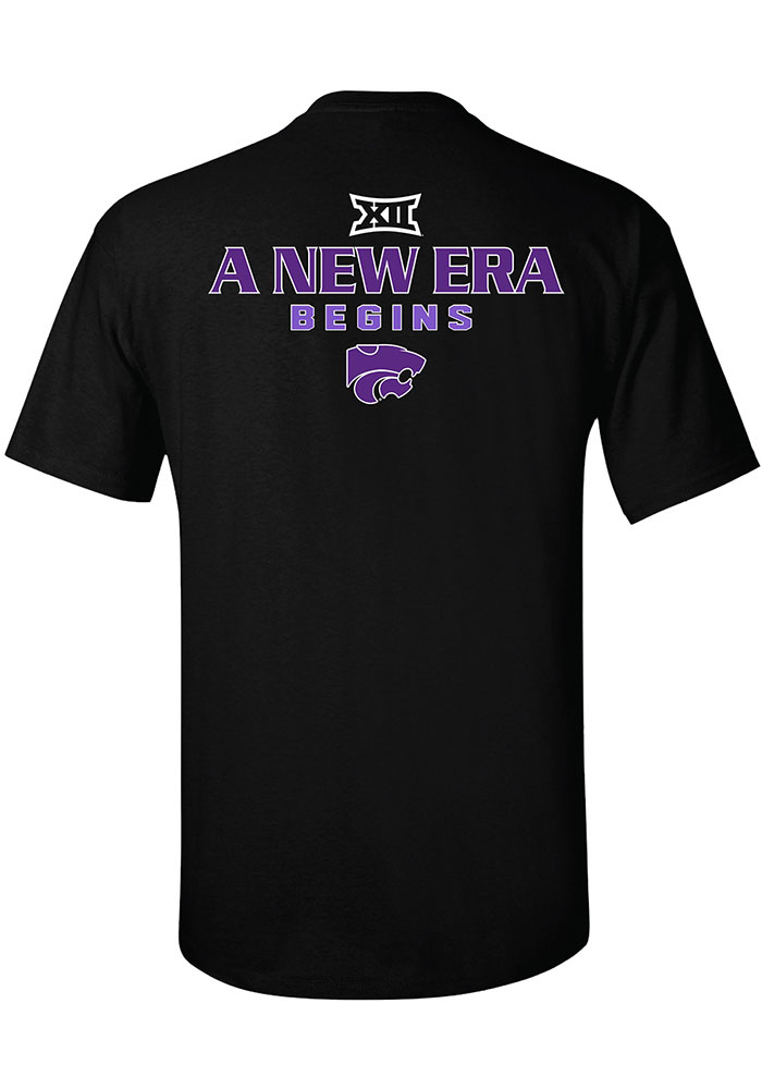 K-State Wildcats Black 2019 Big 12 Champions Short Sleeve T Shirt - Image 2