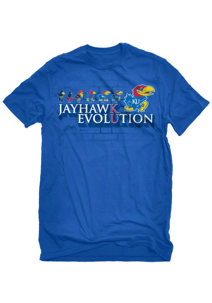 Kansas Jayhawks Blue Evolution Tee