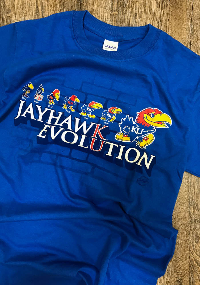 Kansas Jayhawks Blue Evolution Short Sleeve T Shirt - Image 2