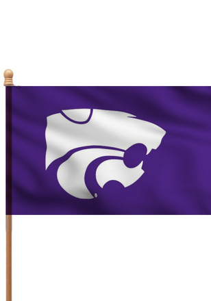 K-State Wildcats 3x5 Purple Applique Sleeve Applique Flag