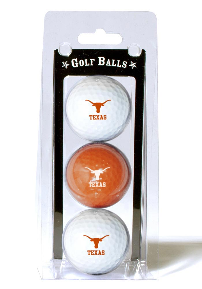 Texas Longhorns 3 Pack Golf Balls - Image 1