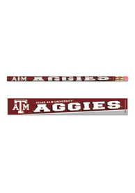 Texas A&M Aggies 6 Pack Pencil