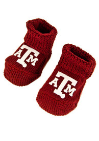 Texas A&M Aggies Baby Knit Bootie Boxed Set - Maroon