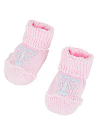 Texas A&M Aggies Baby Knit Bootie Boxed Set - Pink
