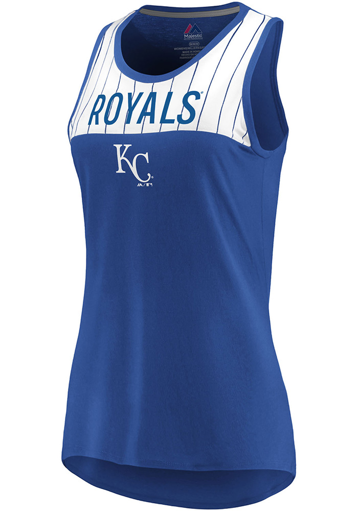 Majestic Kansas City Royals Womens Blue Break From Tradition Tank Top - Image 1