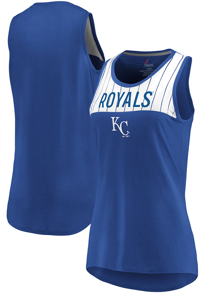 Majestic Kansas City Royals Womens Blue Break From Tradition Tank Top - Image 3