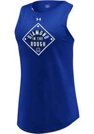 Chicago Cubs Womens Under Armour Passion Diamond Tank Top - Blue