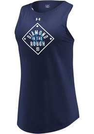 Detroit Tigers Womens Under Armour Passion Diamond Tank Top - Navy Blue