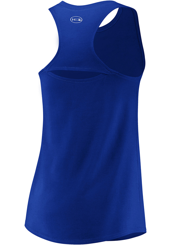 Under Armour Texas Rangers Womens Blue Passion Diamond Tank Top - Image 2