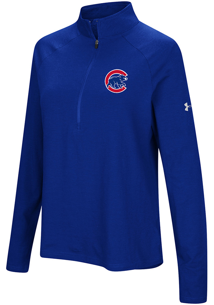 sneakers for cheap 35f88 73e3e Under Armour Chicago Cubs Womens Blue Passion Left Chest 1/4 Zip Pullover