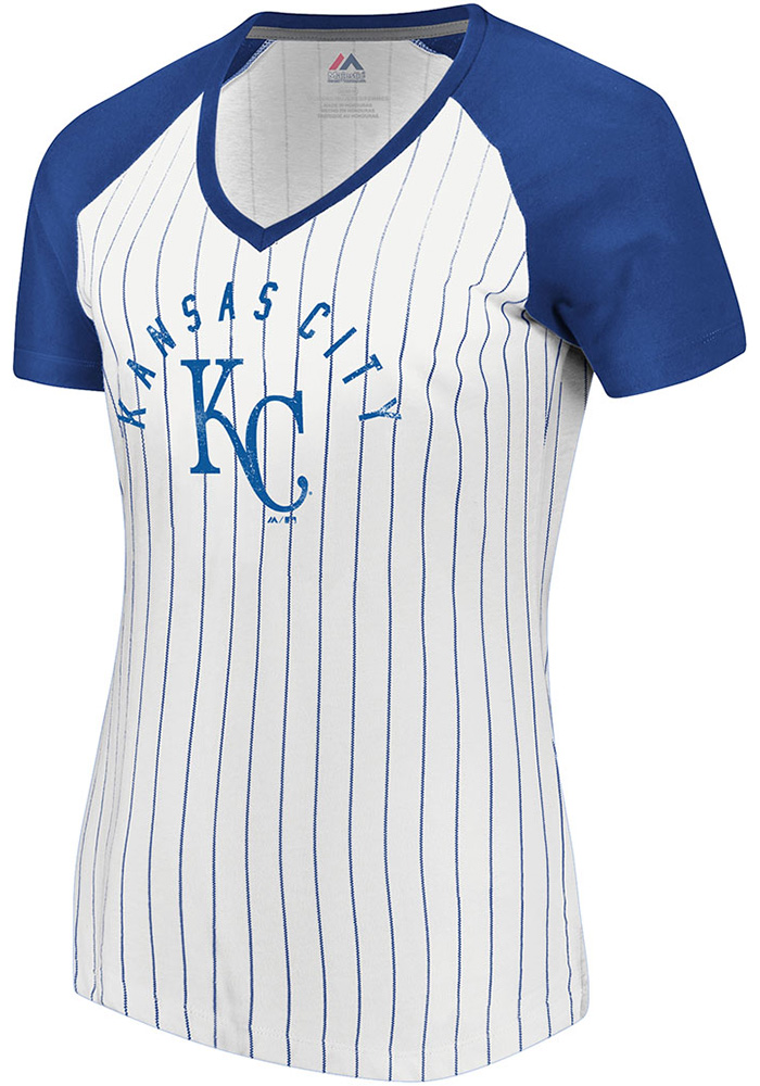 Majestic Kansas City Royals Womens White Paid Our Dues Short Sleeve T-Shirt - Image 1