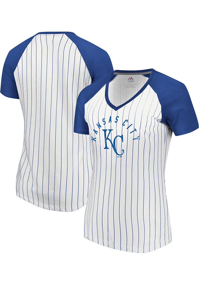 Majestic Kansas City Royals Womens White Paid Our Dues Short Sleeve T-Shirt - Image 3