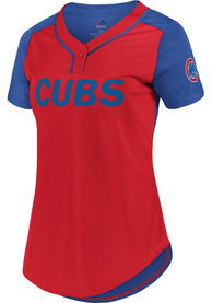 f0462ef5 Chicago Cubs Womens Majestic League Diva Fashion Baseball Jersey - Red