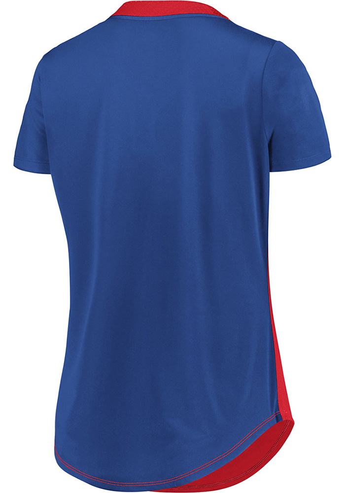 Chicago Cubs Womens Majestic League Diva Fashion Baseball Jersey - Red - Image 2