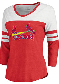 f8c42a696c25cc Majestic St Louis Cardinals Womens Official Workmark Red LS Tee