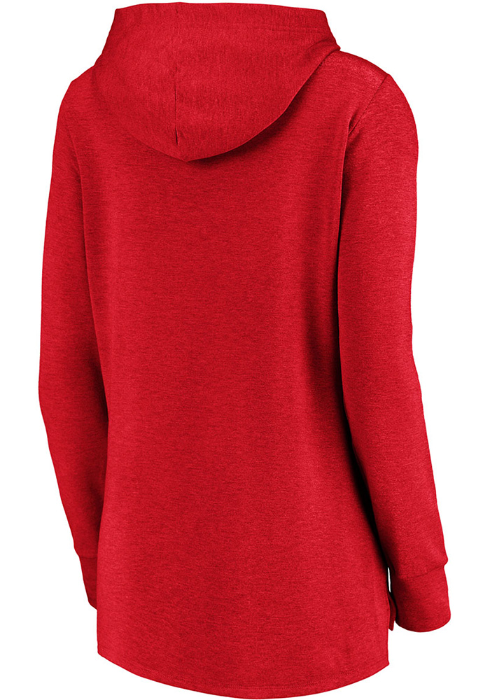 Majestic Philadelphia Phillies Womens Red Synthetic Official Logo Hooded Sweatshirt - Image 2