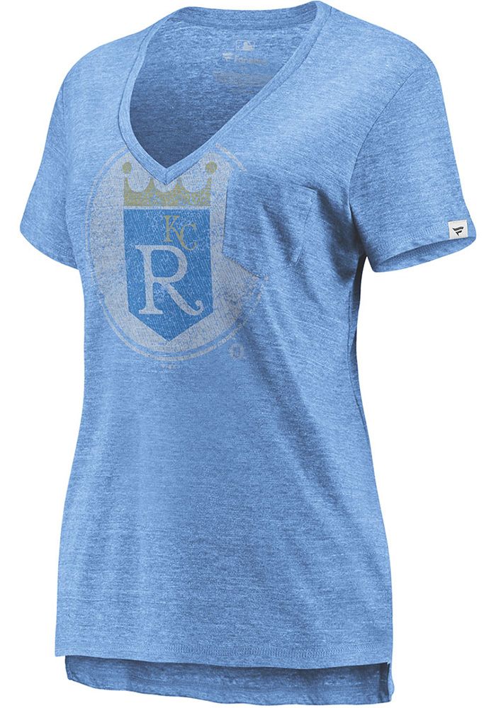 Majestic Kansas City Royals Womens Light Blue Coop Equal Effort Short Sleeve T-Shirt - Image 1