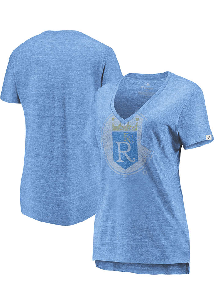 Majestic Kansas City Royals Womens Light Blue Coop Equal Effort Short Sleeve T-Shirt - Image 3