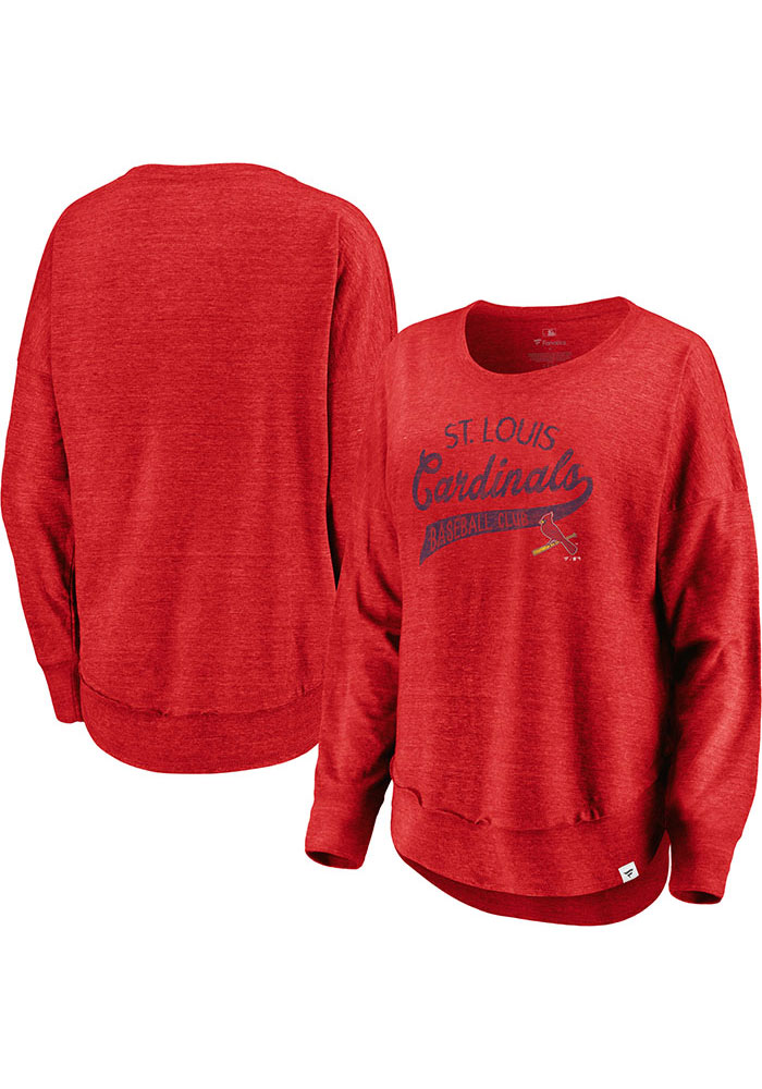 premium selection aaaac 7434b Majestic St Louis Cardinals Womens Red Amaze LS Tee