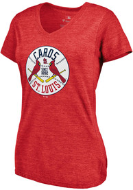 St Louis Cardinals Womens Majestic Were On Top T-Shirt - Red