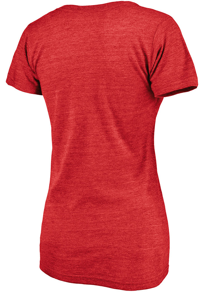Majestic St Louis Cardinals Womens Red Home Town Short Sleeve T-Shirt - Image 2