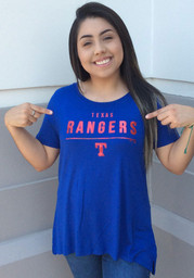 Texas Rangers Womens Majestic Over Everything T-Shirt - Blue