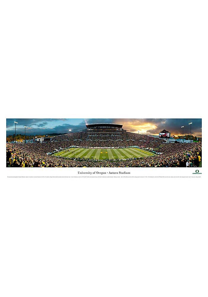 Oregon Ducks Football Panorama Unframed Poster - Image 1