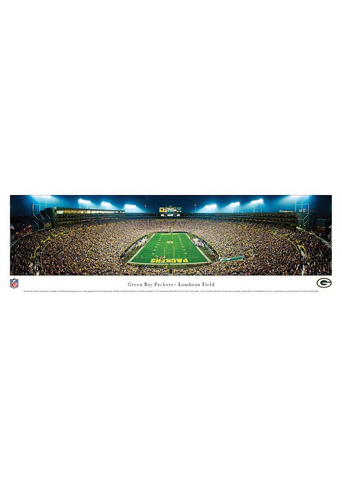 Green Bay Packers End Zone Panorama Unframed Poster - Image 1