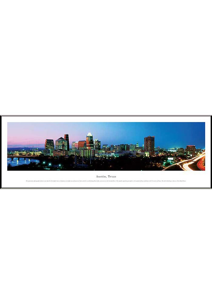 Austin Texas Skyline Panoramic Picture Framed Poster - Image 1