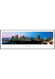 Austin Texas Skyline Panoramic Picture Framed Poster