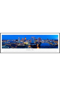 Columbus Ohio Panoramic Skyline Picture Framed Poster