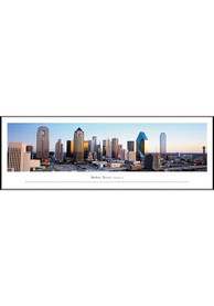 Dallas Ft Worth Skyline Panoramic Framed Posters