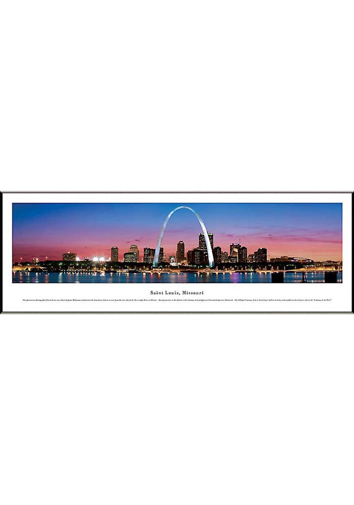 St Louis St. Louis Missouri Panoramic Framed Posters - Image 1