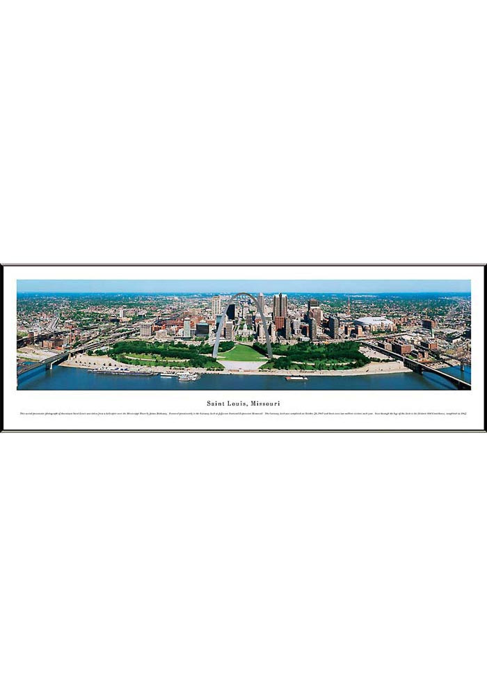 St Louis Saint Louis Missouri Panoramic Framed Posters - Image 1