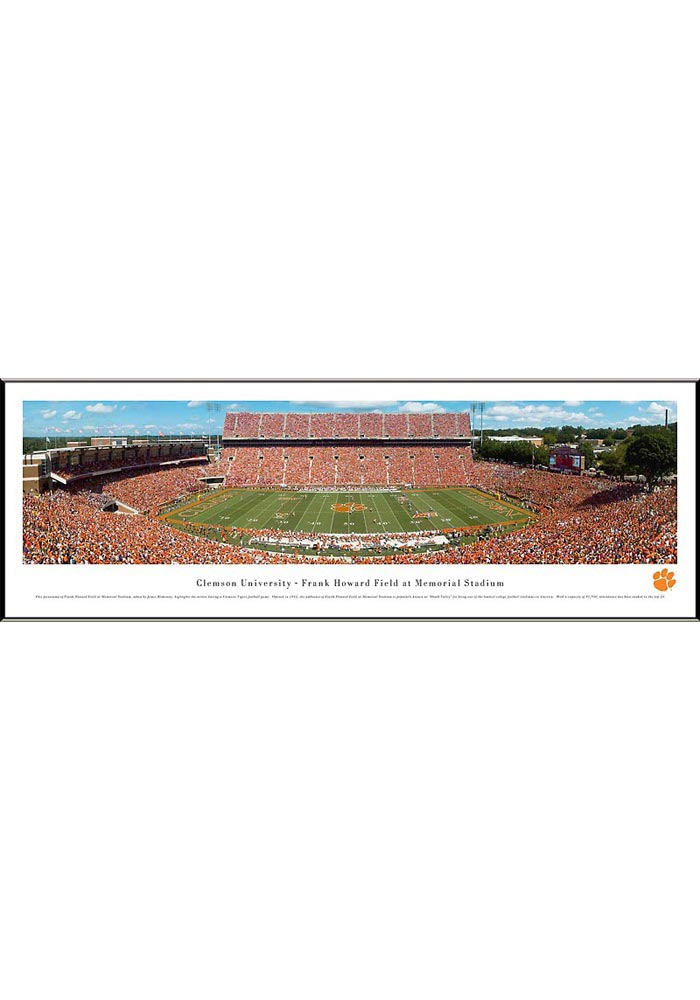 Clemson Tigers Football Panorama Framed Posters - Image 1
