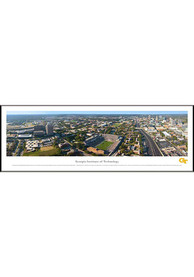 GA Tech Yellow Jackets Aerial Panorama Framed Posters
