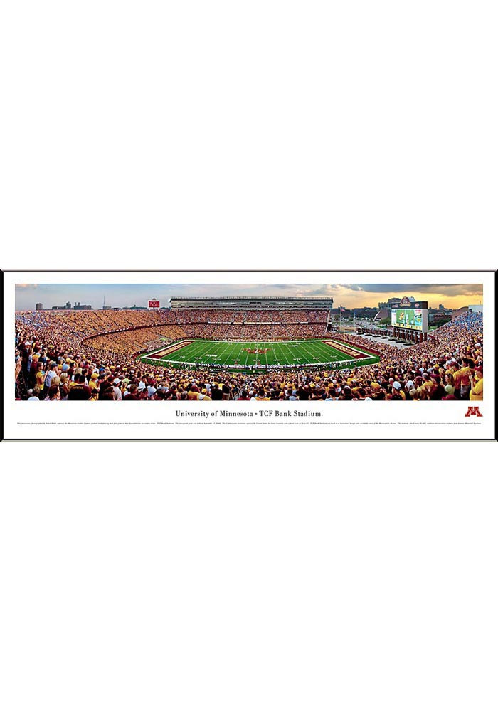 Minnesota Golden Gophers Football Panorama Framed Posters - Image 1