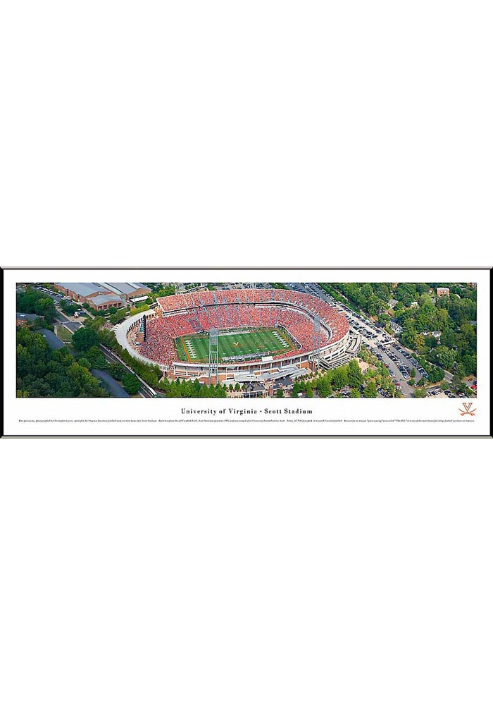 Virginia Cavaliers Aerial Panorama Framed Posters - Image 1